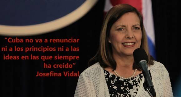 Josefina Vidal: Fue una reunión productiva la del Comité Bilateral Cuba-EEUU