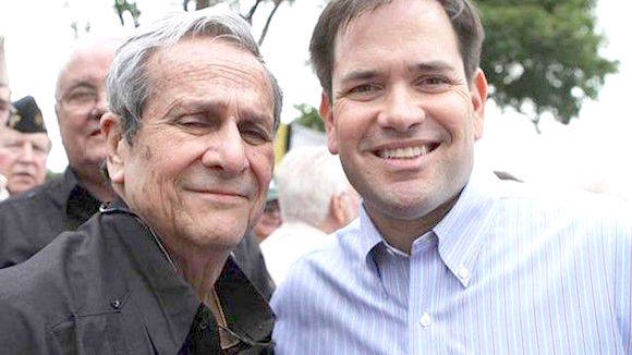 Félix Rodríguez y Marco Rubio (a la derecha). Foto: Semanario Libre