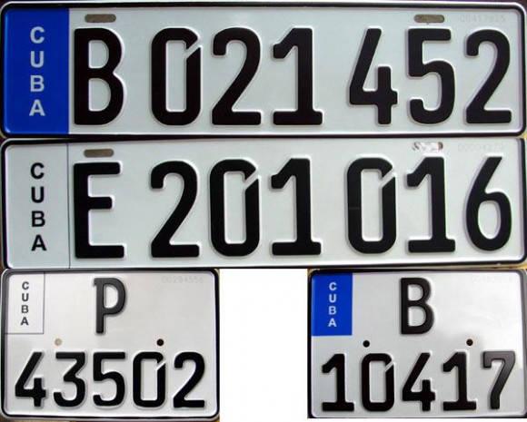 Nuevas chapas de identificación de los automóviles en Cuba. Foto: Cubadebate (Archivo)