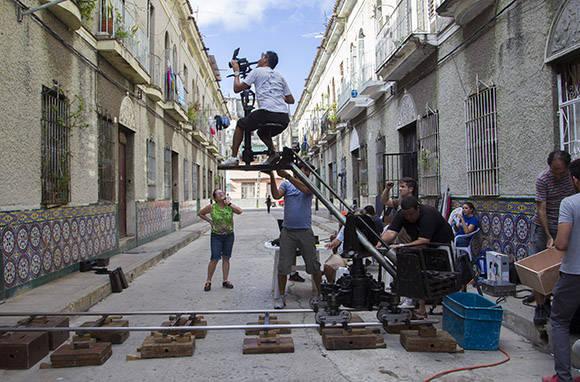 Momentos del rodaje. Foto: Ismael Francisco/Cubadebate.