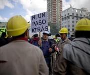 Protestas en Argentina por el Día Internacional de los Trabajadores. Foto: Natacha Pisarenko/ AP