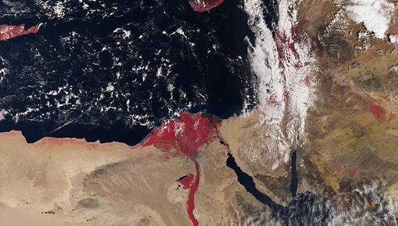 El Río Nilo aparece color