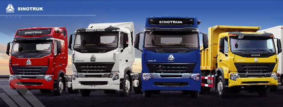 Sinotruk se especializa en vehículos para la construcción y camiones de carga.