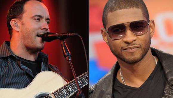 Los famosos músicos Usher Raymond (derecha) y Dave Matthews viajarán a Cuba el próximo lunes 18.