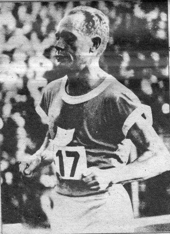 El atleta finlandés, Paavo Nurmi, destacó en esa edición olímpica. Foto: Cortesía del autor.