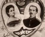 Composición fotográfica que Amalia hizo realizar en el exilio hacia 1872. Fuente: Revista de la Arquidiócesis de La Habana.
