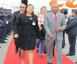 Aristóbulo Istúriz  a su llegada a Sudáfrica. Foto: Tomada de 800noticias.com