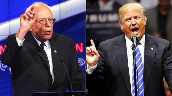 Según algunas encuesta, Sanders tendría más chances de superar a Trump en las elecciones, que Hillary Clinton. Foto: Tomada de www.infobae.com