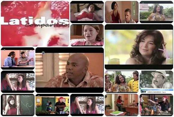 Cartel publicitario de la telenovela cubana Latidos compartidos. Imagen tomada del Portal de la TV Cubana.