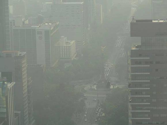 Contaminación en México DF. Foto: Guerrilla Comunicacional/ Facebook