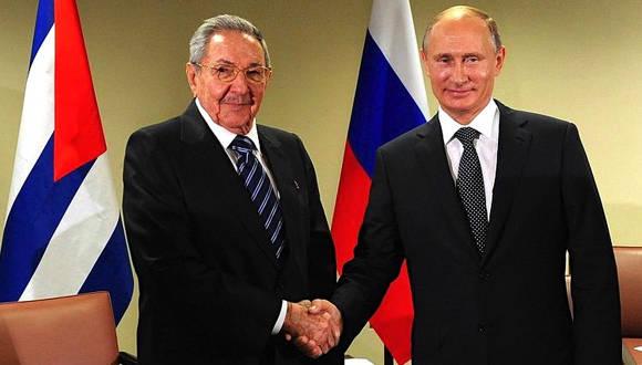 Raúl Castro felicita a Putin por victoria electoral