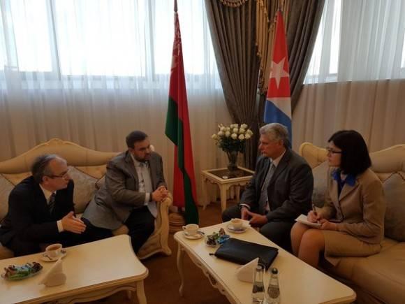 Llegó a Belarús el Primer Vicepresidente cubano Miguel Díaz-Canel