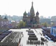 El desfile en el Día de la Victoria por el 70 aniversario del triunfo en la Segunda Guerra Mundial fue el más grande visto. Foto: Reuters.