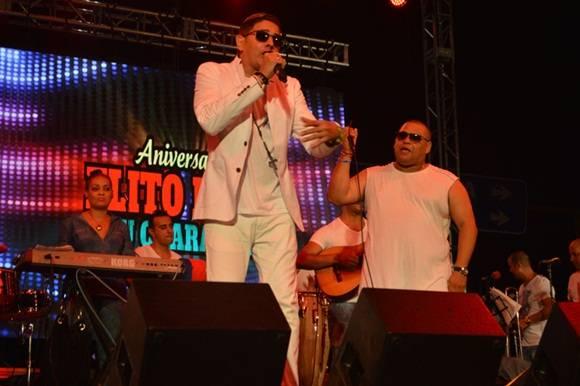 "Paulo F.G, interpretó ""Rumberos Latinoamericanos"".Foto.Marianela Dufflar."