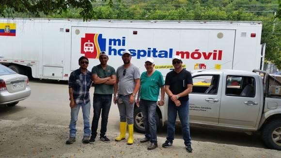 El Hospital Móvil que utiliza la Brigada Médica cubana. Foto: Dr. Enmanuel Vigil