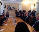 Encuentro del Canciller ruso con los Héroes cubanos. Foto: Tomada de la página en Facebook de Julio César Mejías / PL-Telesur