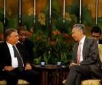Marino Murillo fue recibido por el Primer Ministro de Singapur.