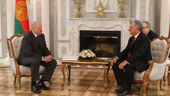 Se reúne Díaz-Canel con el Presidente bielorruso