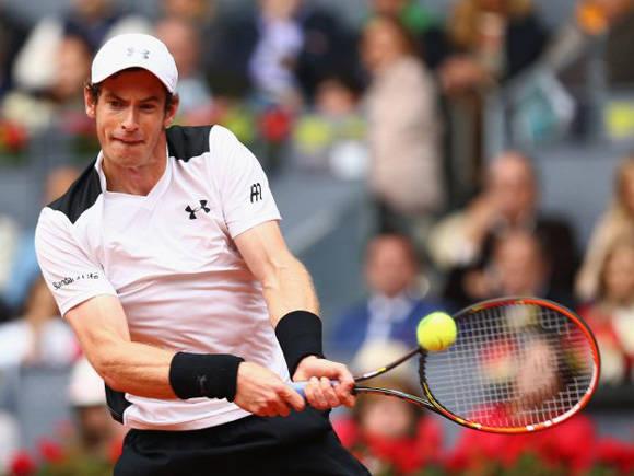Murray superó a Nadal en las semifinales del abierto que se celebra en la capital española. Foto: AP.