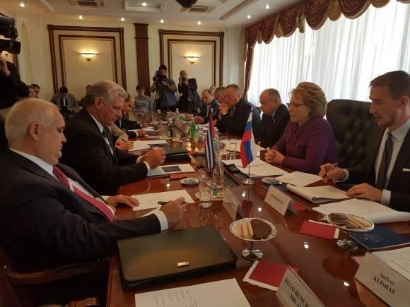 La Presidenta del Consejo de la Federación (Senado) ruso espera la visita a Moscú del Presidente del Parlamento cubano Esteban Lazo. Foto: Cuenta en Twitter de Rogelio Sierra, Viceministro de Relaciones Exteriores de Cuba