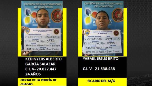 Principales sospechosos del asesinato del General Bolivariano Félix Antonio Velásquez. Foto: Tomada de telesurtv.net
