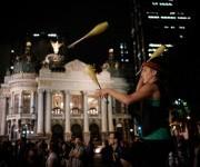 Protestan contra el presidente interino de Brasil, Michel Temer, en Río de Janeiro, 13 de mayo de 2016. Foto: Yasuyoshi Chiba/ AFP.