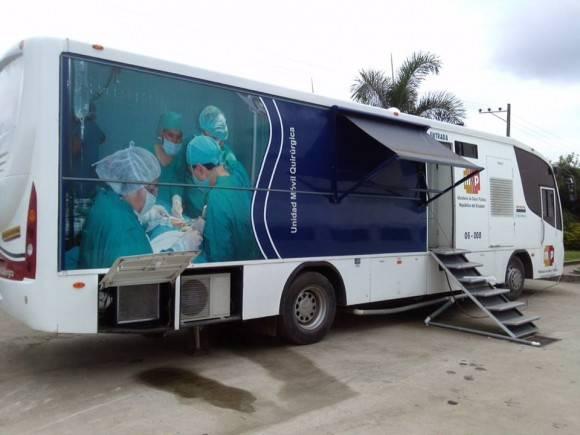 El Salón quirúrgico móvil. Foto: Dr. Enmanuel Vigil