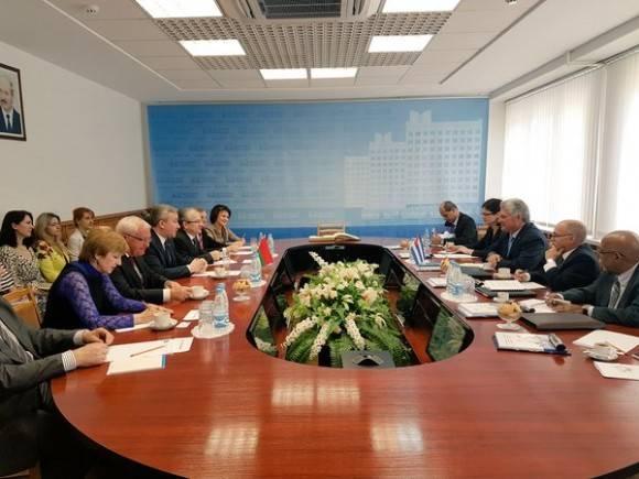 Visita Primer Vicepresidente cubano Díaz-Canel Academia de Administración Pública de Belarús. Foto: Cuenta en Twitter de Rogelio Sierra, Viceministro de Relaciones Exteriores
