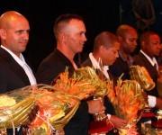 José Adolis García, en primer plano, fue elegido el Jugador Más Valioso y quedó líder en impulasadas, sin embargo está ausente del Todos Estrellas Ofensivo. Foto: Roberto Morejón/ Jit.
