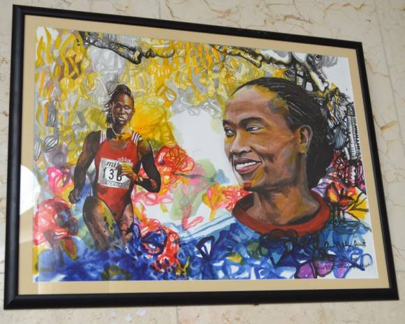 """Ana Fidelia"". Atletismo. Foto. Marianela Dufflar"