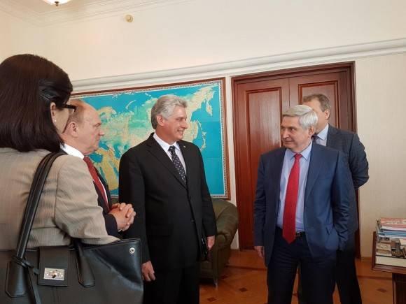 Ziugánov califica a Cuba como nuestro socio confiable de tantos años.  Foto: Cuenta en Twitter de Rogelio Sierra, Viceministro de Relaciones Exteriores de Cuba