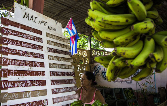 Los mercados estatales son los más desabastecidos. En la imagen, agro de SanctiSpíritus. Foto: Ismael Francisco/ Cubadebate.