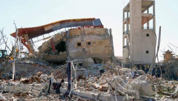 Ataque a hospital en Siria. Foto: AFP.