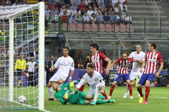 Sergio Ramos marcó el primer gol de la final. Foto: Reuters.