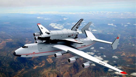 El Anatov Ann-225 fue creado para cargar transbordadores espaciales. Foto:  anatovann-225.com.