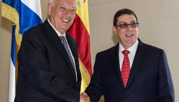 Bruno Rodríguez y Margallo. Foto: ACN