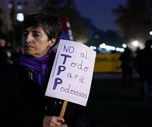 Manifestacion en contra del TTP y Chiloe esta privado