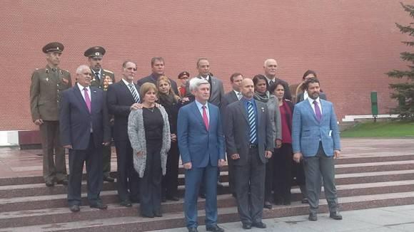 Los Cinco agradecen a nombre de sus compañeros la solidaridad del pueblo ruso por la causa de los Cinco héroes antiterroristas cubanos.  Foto: Julio César Mejías/ Prensa Latina