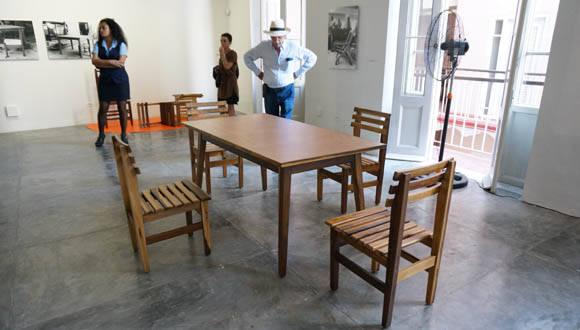 Exposición dedicada a Clara Porset en Factoría Habana, como parte de la Bienal de Diseño. Foto: Gerardo Lebredo/ONDI.