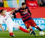 Messi guió al Barcelona al triunfo 2-0 en la Copa del Rey. Foto: EFE