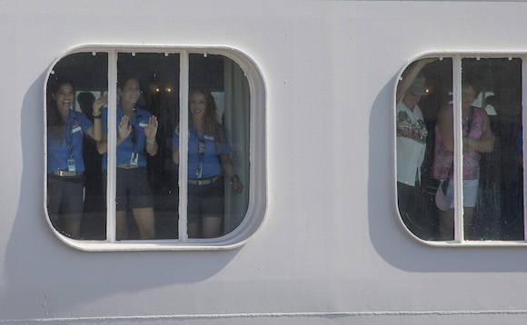 La llegada del Adonia a La Habana. Foto: Ismael Francisco/ Cubadebate