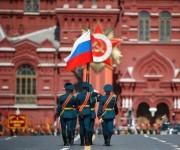 Desfile militar en el Día de la Victoria. Foto: CCTV.