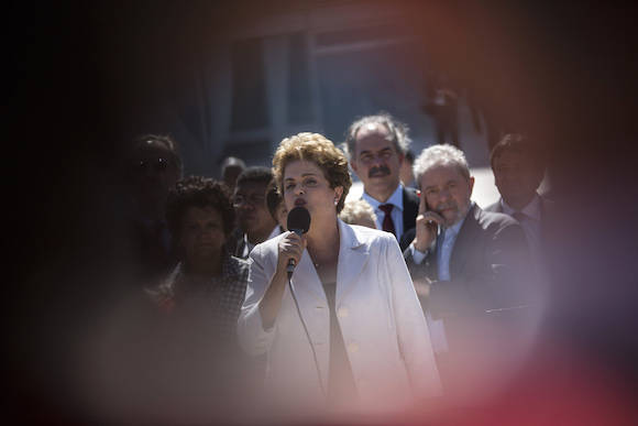 Dilma y Lula en Brasilia. Foto: Felipe Dana/ AP