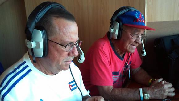 Duarte Alonso (en primer plano) y Ferrer Pimienta. Foto: Michel Contreras/Cubadebate.