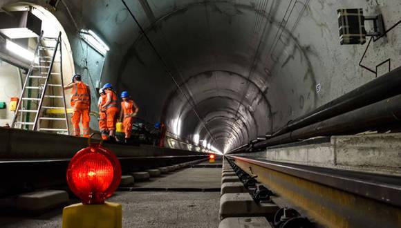 Túnel ferroviario de San Gotardo, el más largo del mundo. Foto: Reuters