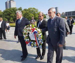 Díaz-Canel reafirma en Hiroshima necesidad de alcanzar desarme nuclear