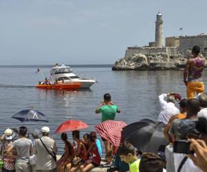 La lanchas harán exhibiciones a lo largo del Malecón. Foto: Marcelino Vázquez/ ACN/ Archivo.
