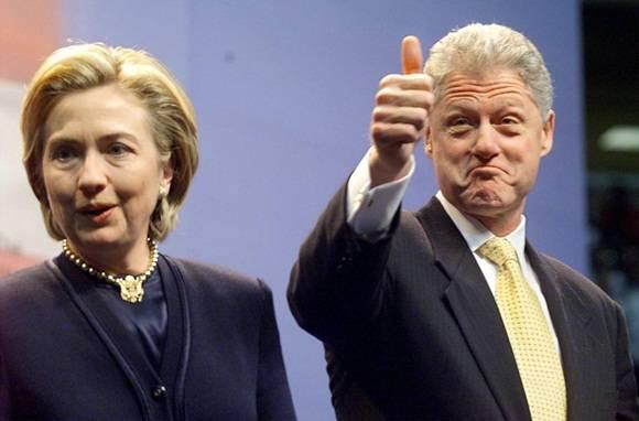 Hillary y William Clinton