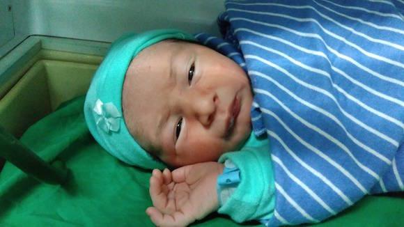 Luis Alejandro Guerrero nació al mediodía de este Primero de Mayo. Foto: Blanca Elena Herrera