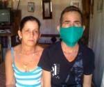 Maikel junto a su madre, María Ofelia.